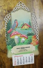 Embossed Paper Doily Calendar 1979 Burger Hardware True Value Sugarcreek, Ohio