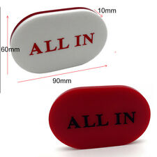 High Quality Big Oval Acrylic White Red Double Side ALL IN Button Dealer Poker