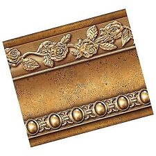 Flower Molding Peel and Stick Wall Border Easy to Apply Brown