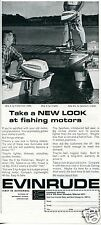 1965 Outboard Marine Corp Evinrude Fishing Boat Motor Print Ad
