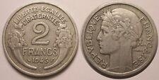 2 Francs Morlon en aluminium 1945 C Castelsarrasin, TTB, Assez rare !!
