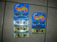 4 Mattel Hot Wheels Firebird - Collector #1065 - Die Cast - 1998  (#7)