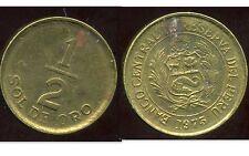 PEROU  1/2 sol de oro 1975
