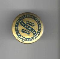 BUS Vintage pin LABOR UNION pinback Electric Railway Motor Coach Employees