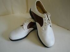 Nike Golf Air Comfort Women's Shoes Saddle White Brown Verdana Last 6 1/2