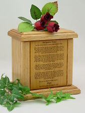 Pet Urn with Rainbow Bridge Poem for Dog and Cats