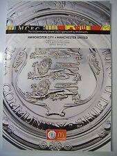 Football Programme. FA Community Shield, 2011. Manchester City v Manchester Utd.