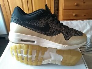 Ladies Nike Air Max 1 Flyknit trainers..'metallic gold'.. size 6uk..!