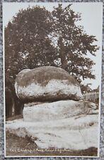 The Chiding Stone Chiddingstone Nr Sevenoaks Vintage Photographic Postcard Kent
