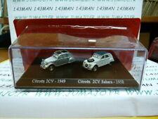 HO7 DUO voitures 1/87 HO universal Hobbies CITROËN 2CV 1949 Sahara 1958