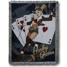 Harley Quinn Bombshells Throw Blanket Black