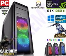 Extreme Gaming PC Quad Core i5 Ordinateur GTX 1050 TI 4 Go Windows 10 Desktop 8 Go