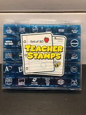 Set of 29 Teacher Stamps with Case