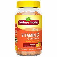 Nature Made Adult Gummies 250 mg Vitamin C Tangerine 150 New & Sealed