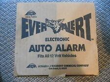 Old Vintage ECP Ever Alert Electronic Auto Alarm System Fits 12 Volt Vehicles ..