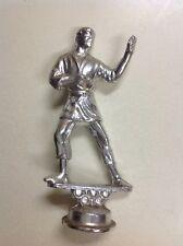 Vintage Silver Tone Metal Male Karate Trophy Topper ~ Trophy Parts