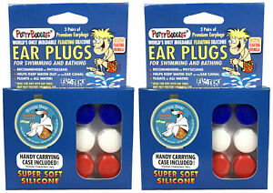 2 Pack Ear Band-It Soft Silicone Putty Buddies Waterproof Ear Plugs - 91509