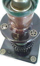 STEAMPUNK RETRO INDUSTRIAL RECYCLED DESIGNER TABLE  LAMP LIGHT MAN CAVE OFFICE