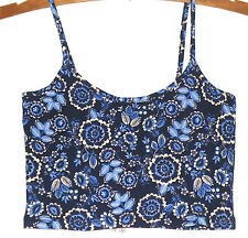 Supre Ladies XS Crop Top - Blue Floral - New with tags!