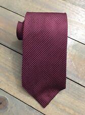 Covington Solid Burgundy Diagonal Striped Classic Silk Mens Neck Tie