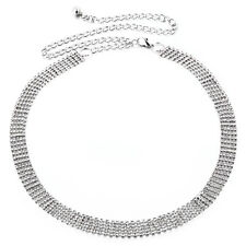 FILA 5 pedrería Diamante Mujer Cadena Cintura Correa Encanto en la plata
