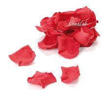CONFEZIONE CON CIRCA 60 PETALI DI ROSA SINTETICI rossi 3 cm decorazioni scrap