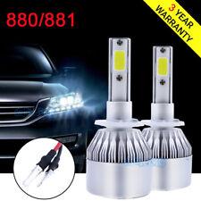 Pair 880 881 Fan LED Fog Light Lamps for Chevrolet Tahoe 2000-2006 6000K White
