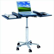 Techni Mobili Folding Table Laptop Cart in Graphite