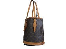 LOUIS VUITTON BUCKET PM Monogram Canvas Tote Bag Shoulder Bag LS17555L