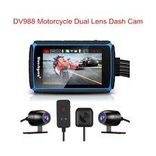 DV988 Waterproof Dual Channels 1080P Motorcycle Wifi GPS Dash Camera G-Sensor