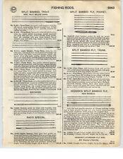 1926 PAPER AD Heddon's Split Bamboo Fly Fishing Rod Tonkin Cane Goodwin Granger