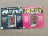 SOUL DAZE  & SOUL NITES ORIGINAL VINYL LP 1982 40 TRACKS RONCO UK VGC