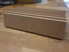 6x rough cut MDF 18mm Freestanding Blank Wooden Plaque Blocks around 28cmx6.5cm