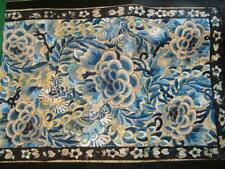 Beautiful Antique Chinese Silk Embroidered Panel, Flowers & Butterflies #1