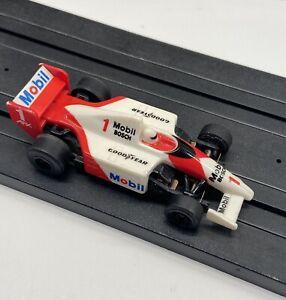 AFX Tomy Aurora HO Slot Car - Mobil Indycar Super G+ Plus (missing half frt wing