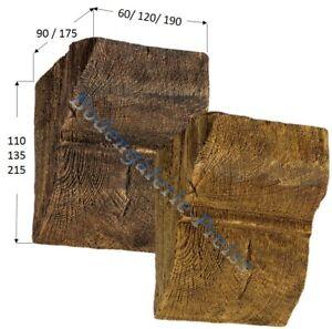 Konsole für Deckenbalken - Dekorbalken - PU-Balken- Holzimitat Eiche hell/ dunke