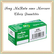Piles bouton 370 Sony muRata SR920W 1.55V sans Mercure Réf: 49037010