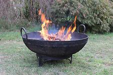 Fire Pit Bowl Fireplace Planter Watergarden Unique Old Iron Indian Kadai 90-94cm