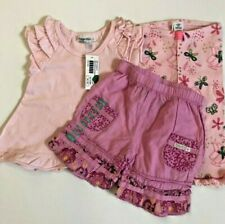 NWT NAARTJIE Baby 3-6M Pink 3pc Lot Outfit Girl