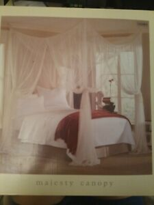 Majesty Sheer White Bed Canopy Fits up to King Bed Bath & Beyond