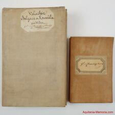 Général Prudent de Chasseloup-Laubat (1802-1863) Deux cartes entoilées signées