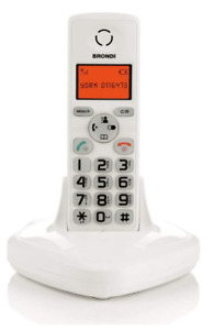 BRONDI YORK CORDLESS WHITE TASTI GRANDI VIVAVOCE DISPLAY RETROILLUMINATO