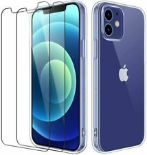 Coque Housse+ 2 Verres Trempés iPhone 12 Pro Max/Mini 11 Pro X XR 8/7/6S Plus