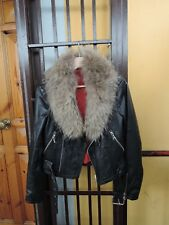 Beige brown real fox fur collar scarf trim strip for hood jacket parka furstrip