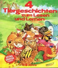 Kinderbuch 4 Tiergeschichten zum Lesen und Lernen Bilderbuch Buchstaben Tiere
