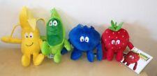 4 VITAMINI FRAGOLA MIRTILLO BANANA PISELLO peluche Vita Mini pupazzo plush toys
