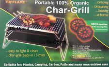 Portable organico char-grill PER BARBEQUE BBQ CAMPEGGIO picnics NAUTICA Outdoor ETC