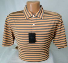 Dunning Golf Shirt Two Tone Stripe in Hawi/Charcoal PGA Tour MSRP $89 NWT - MED