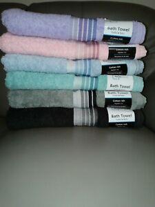 Mainstays Basic Bath Collection 6 Bath Towels set, 6 Different Color: Black,...