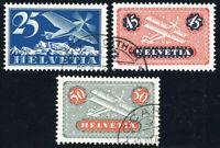 SCHWEIZ 1934/1937, MiNr. 180 z, 183-184 z, sauber gestempelt, Mi. 110,-